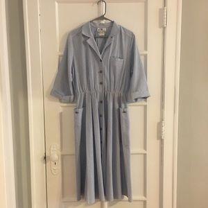 Vintage Willi Of California Pin-Striped Dress